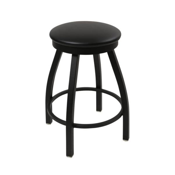black backless barstool with footrest