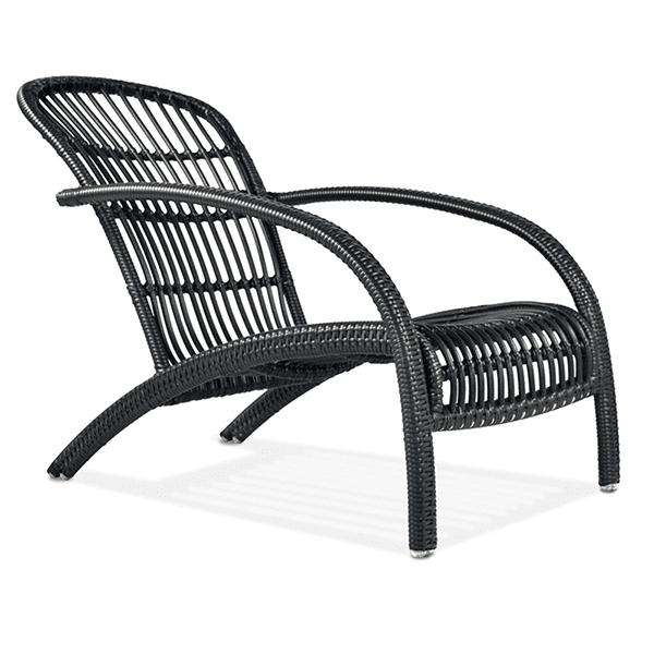 outdoor wicker patio armchair