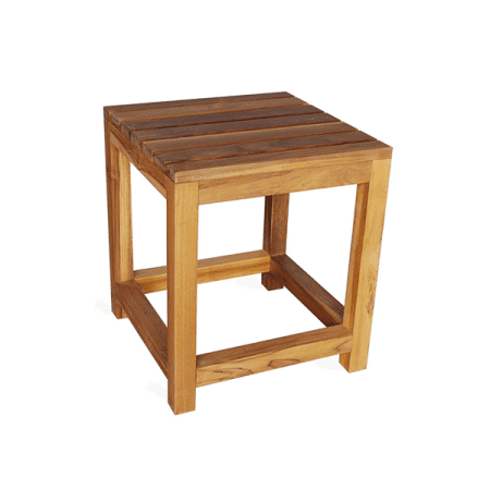 outdoor teak patio side table