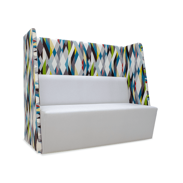 geometric pattern privacy panel booth