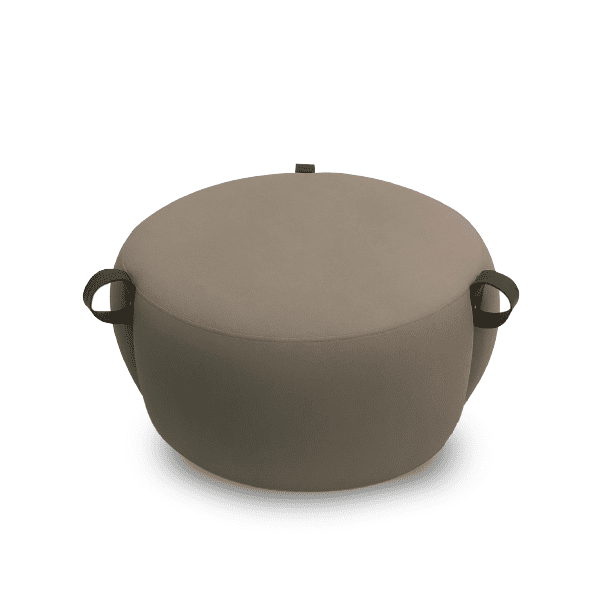 ottoman with leather straps for commercial use